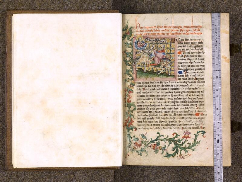 CHANTILLY, Bibliothèque du château, 0035 (1455), f. 000Bv - 001 avec réglet