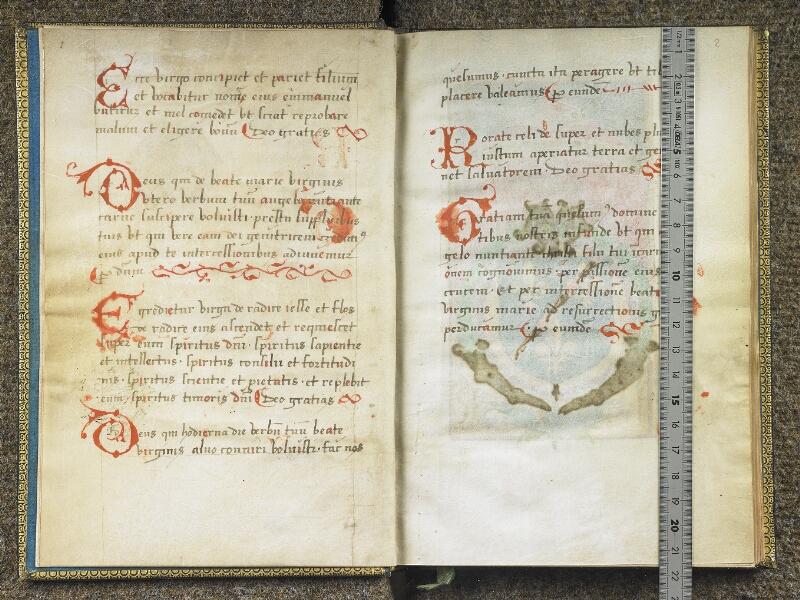 CHANTILLY, Bibliothèque du château, 0048 (1605), f. 001v - 002 avec réglet