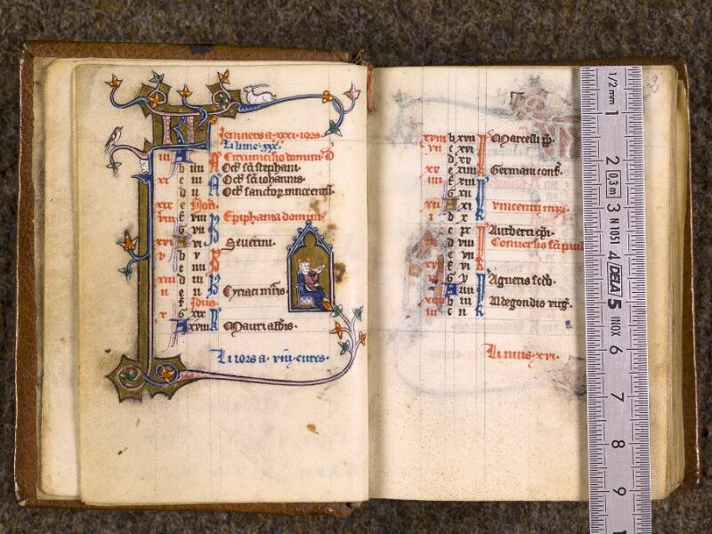 CHANTILLY, Bibliothèque du château, 0062 (1423), f. 001v - 002 avec réglet