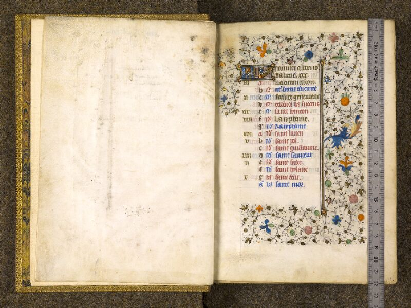 CHANTILLY, Bibliothèque du château, 0067 (1371), f. 000Bv - 001 avec réglet