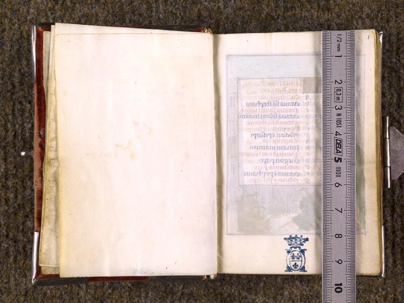 CHANTILLY, Bibliothèque du château, 0068 (1141), f. 000Cv - 001 avec réglet