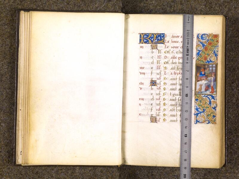 CHANTILLY, Bibliothèque du château, 0082 (1400), feuillet vierge - f. 001 avec réglet