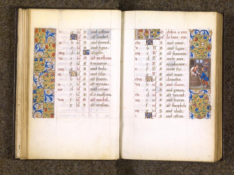 CHANTILLY, Bibliothèque du château, 0082 (1400), f. 009v - 010