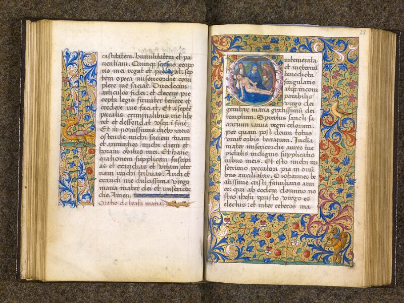 CHANTILLY, Bibliothèque du château, 0082 (1400), f. 027v - 028