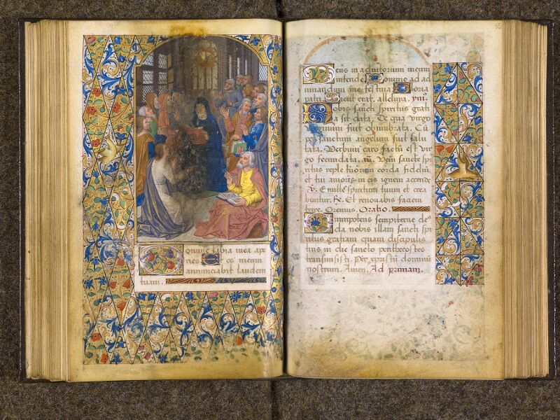 CHANTILLY, Bibliothèque du château, 0082 (1400), f. 054v - 055