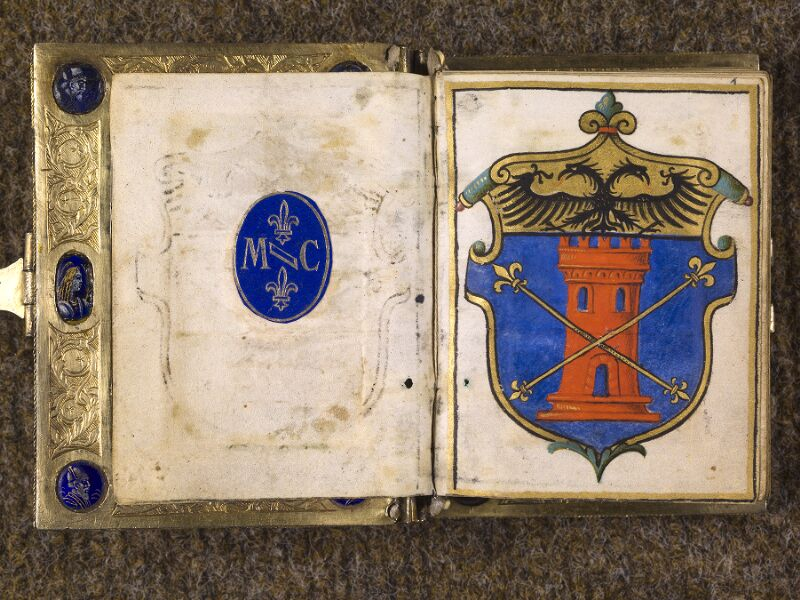 CHANTILLY, Bibliothèque du château, 0083 (1385), contregarde - f. 001