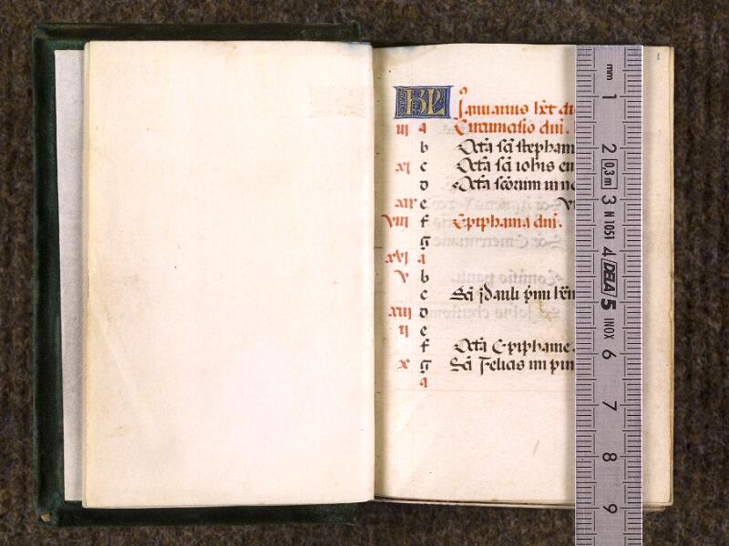 CHANTILLY, Bibliothèque du château, 0084 (0071), f. 000Bv - 001 avec réglet