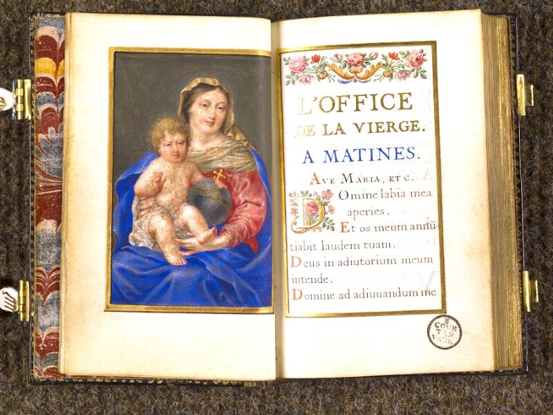 CHANTILLY, Bibliothèque du château, 0092 (1673), p. 000F - 001