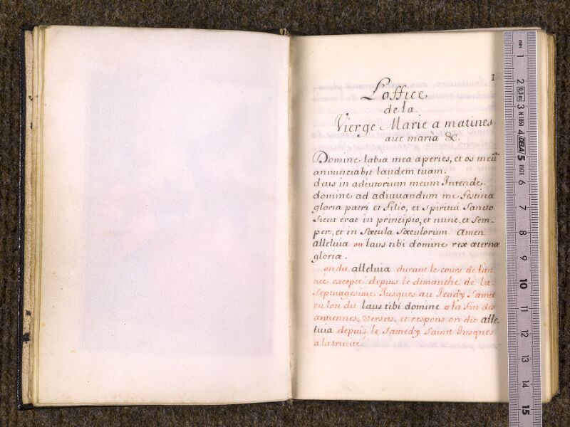 CHANTILLY, Bibliothèque du château, 0093 (1041), p. 000H - 001 avec réglet