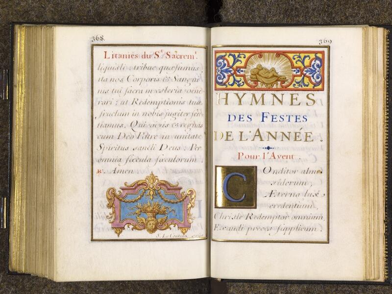 CHANTILLY, Bibliothèque du château, 0094 (1285), p. 368 - 369