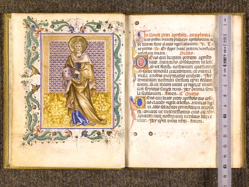 CHANTILLY, Bibliothèque du château, 0100 (1526), f. 000Cv - 001 avec réglet
