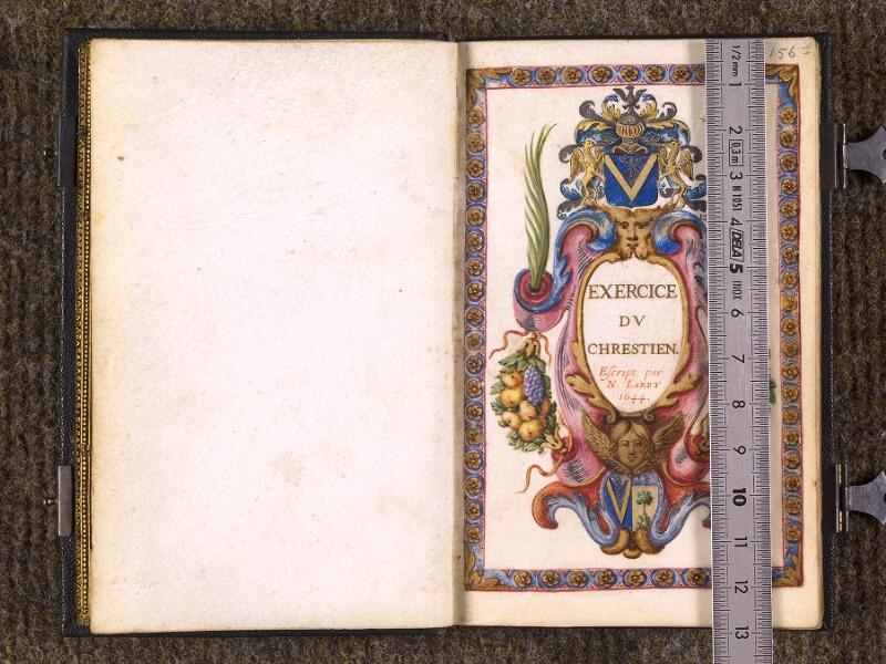 CHANTILLY, Bibliothèque du château, 0105 (1402), f. 000Av - 001 avec réglet