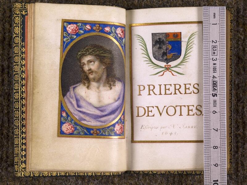 CHANTILLY, Bibliothèque du château, 0106 (1374), p. 000L - 000M avec réglet