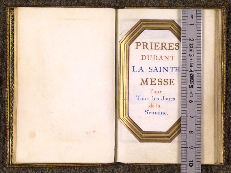 CHANTILLY, Bibliothèque du château, 0110 (1393), p. 000F - 000G avec réglet