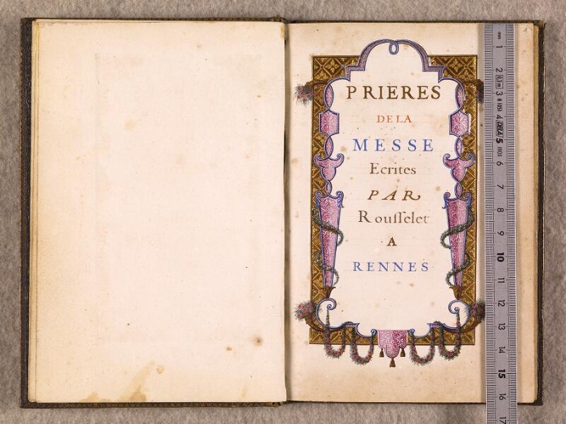 CHANTILLY, Bibliothèque du château, 0111 (1395), f. 000Bv - 001 avec réglet