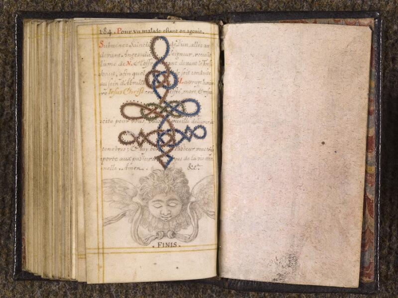 CHANTILLY, Bibliothèque du château, 0113 (1439), p. 184 - garde