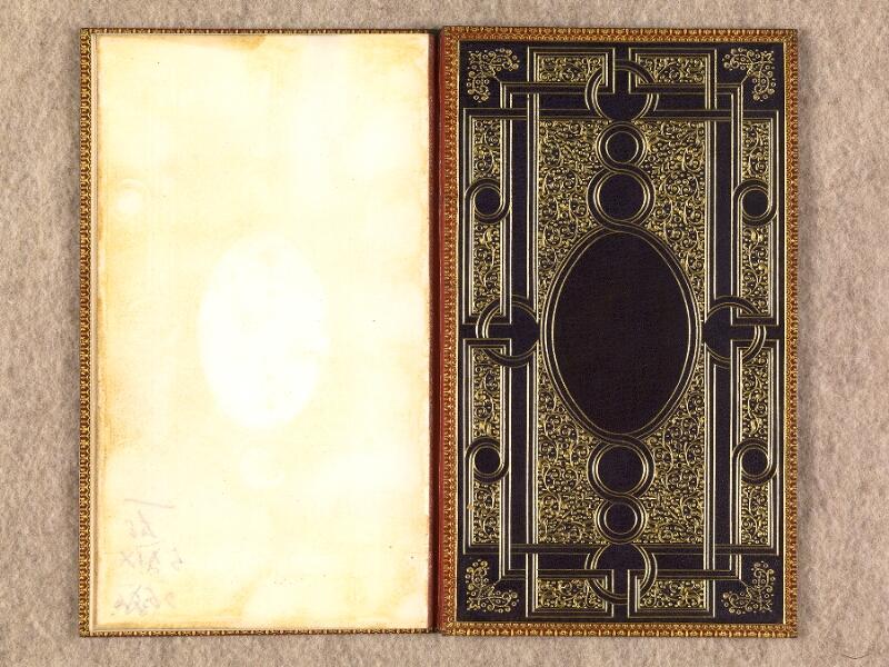CHANTILLY, Bibliothèque du château, 0116 (1396), contreplat inférieur
