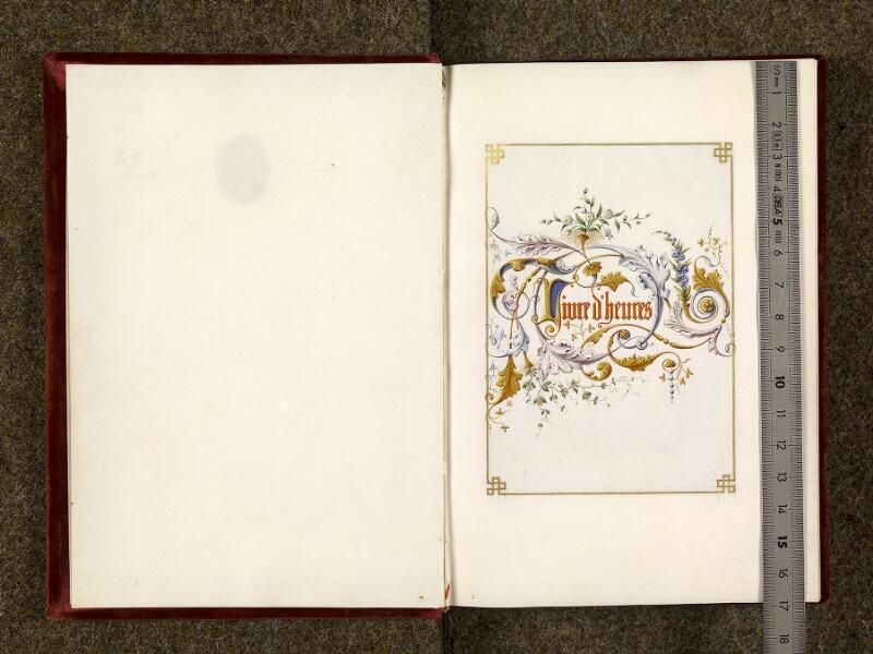CHANTILLY, Bibliothèque du château, 0117 (1454), contregarde - p. 000A avec réglet
