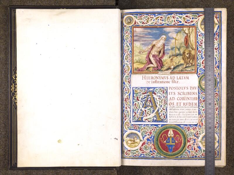CHANTILLY, Bibliothèque du château, 0118 (1328), f. 000Av - 001 avec réglet