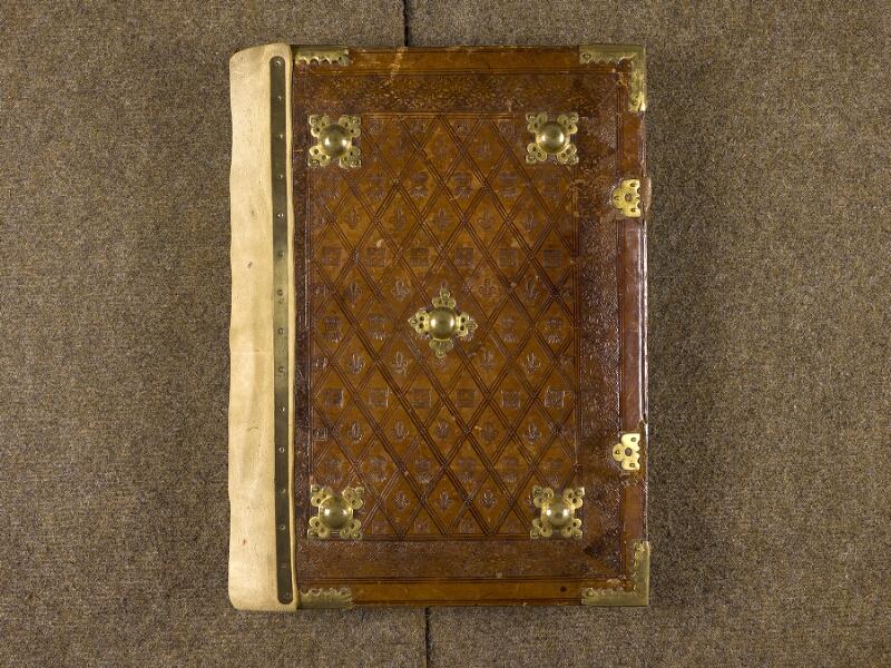 CHANTILLY, Bibliothèque du château, 0139 (1363), plat supérieur
