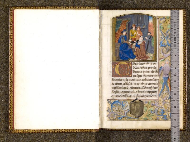 CHANTILLY, Bibliothèque du château, 0151 (1477), f. 000Bv - 001 avec réglet