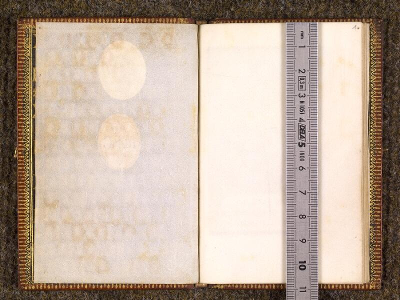 CHANTILLY, Bibliothèque du château, 0165 (1042), contregarde - f. 001 avec réglet