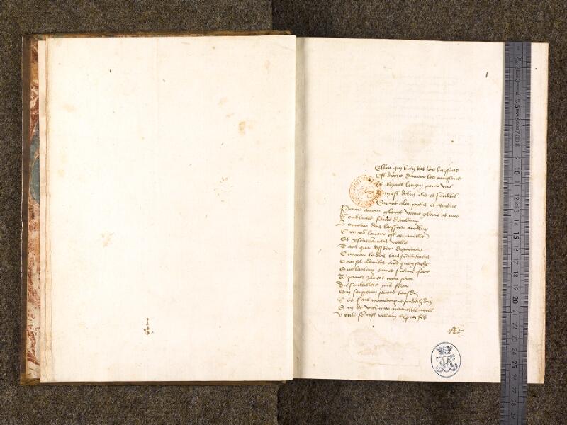 CHANTILLY, Bibliothèque du château, 0285 (0663), f. 000Bv - 001 avec réglet