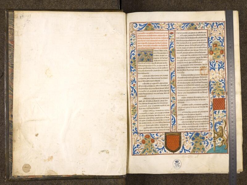 CHANTILLY, Bibliothèque du château, 0292 (0403), contregarde - f. 001 avec réglet
