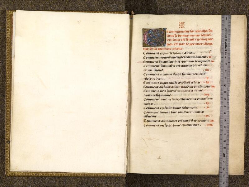 CHANTILLY, Bibliothèque du château, 0297 (1338), f. 000Bv - 001 avec réglet