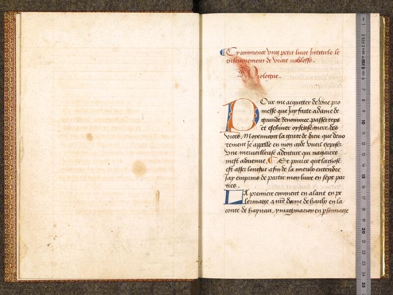 CHANTILLY, Bibliothèque du château, 0298 (1445), f. 000Cv - 001 avec réglet