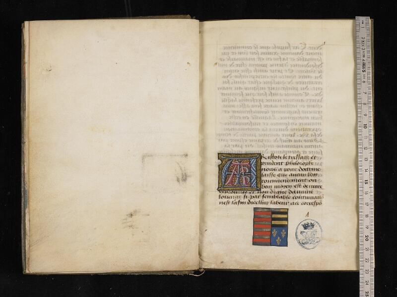 CHANTILLY, Bibliothèque du château, 0299 (0918), f. 000Bv - 001 avec réglet