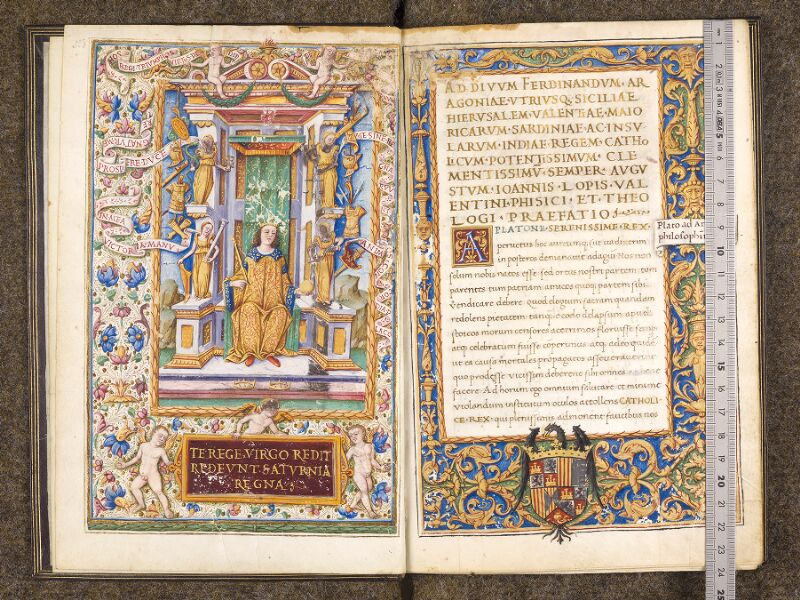 CHANTILLY, Bibliothèque du château, 0300 (1341), f. 000Av - 001 avec réglet