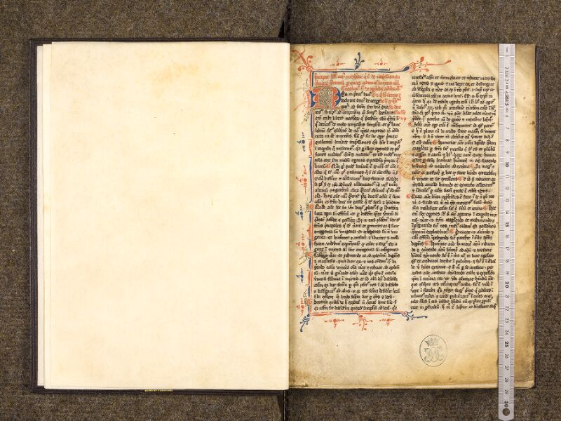 CHANTILLY, Bibliothèque du château, 0327 (0642), p. 000 - 001 avec réglet