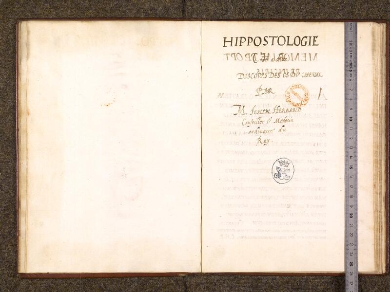 CHANTILLY, Bibliothèque du château, 0338 (0742), f. 000Bv - 001 avec réglet
