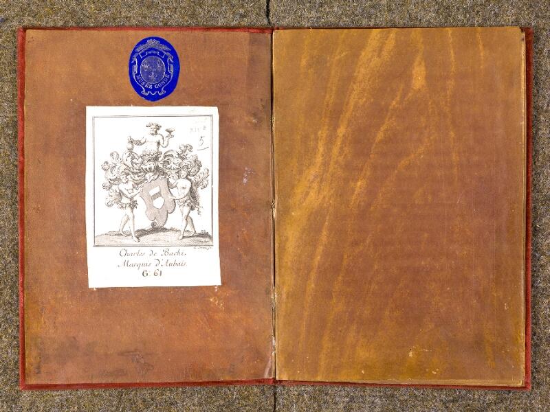 CHANTILLY, Bibliothèque du château, 0455 (1435), contreplat supérieur - p. 001