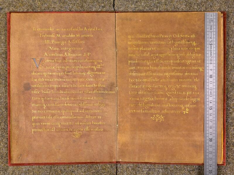 CHANTILLY, Bibliothèque du château, 0455 (1435), p. 002 - 003 avec réglet