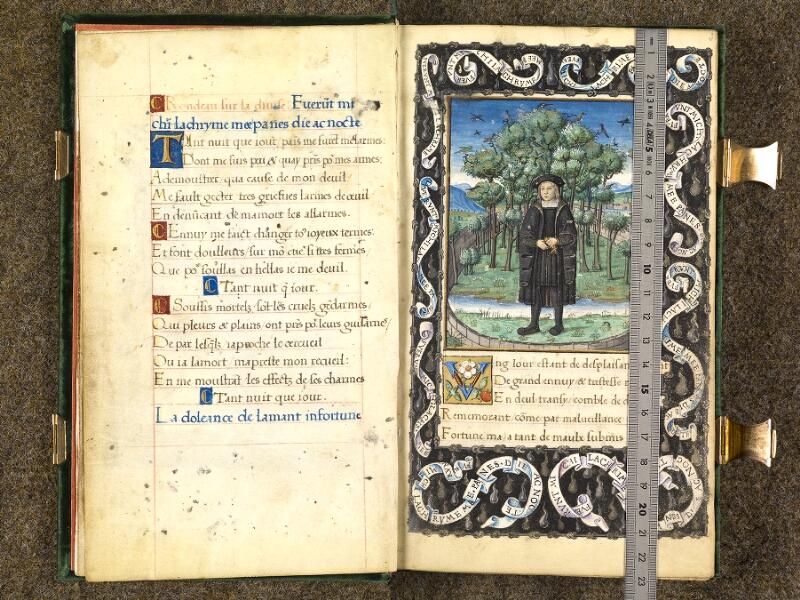 CHANTILLY, Bibliothèque du château, 0508 (1489), f. 001v - 002 avec réglet