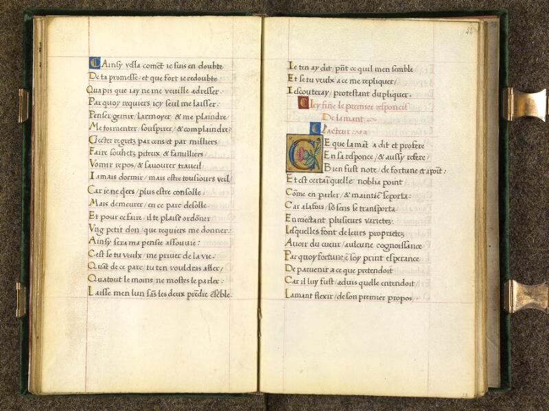 CHANTILLY, Bibliothèque du château, 0508 (1489), f. 021v - 022