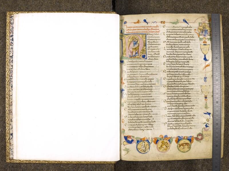 CHANTILLY, Bibliothèque du château, 0597 (1424), f. 000Av - 001 avec réglet