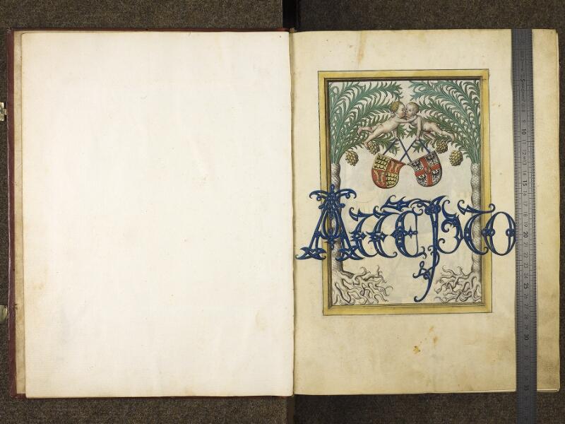 CHANTILLY, Bibliothèque du château, 0680 (1389), f. 000Bv - 001 avec réglet