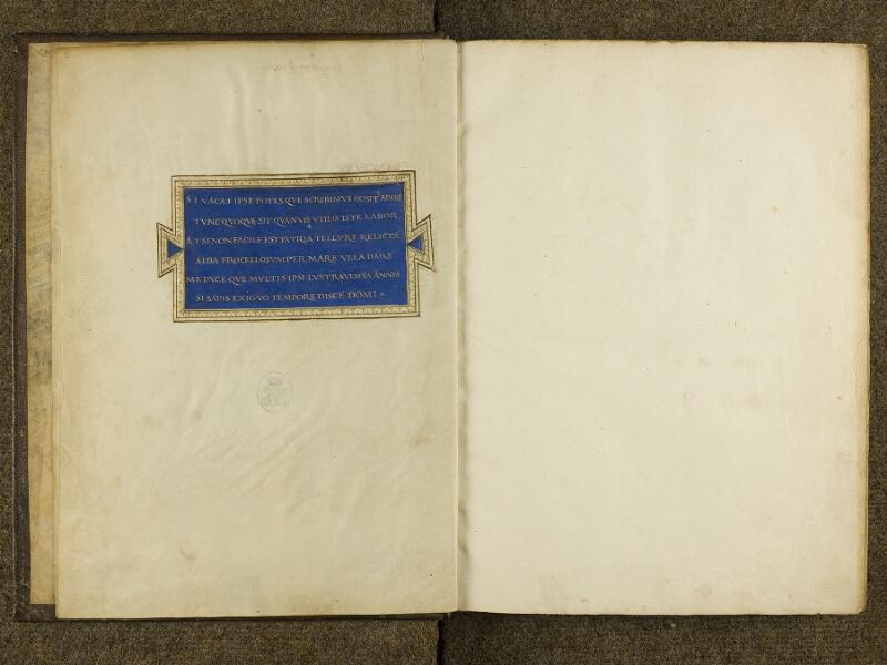 CHANTILLY, Bibliothèque du château, 0698 (0483), f. 001v - feuillet vierge
