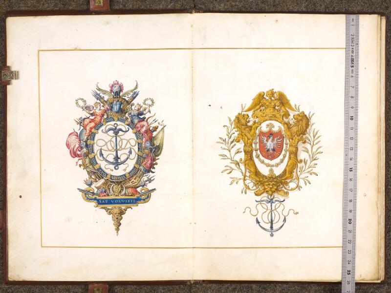 CHANTILLY, Bibliothèque du château, 0700 (1602), f. 001v - 002 avec réglet