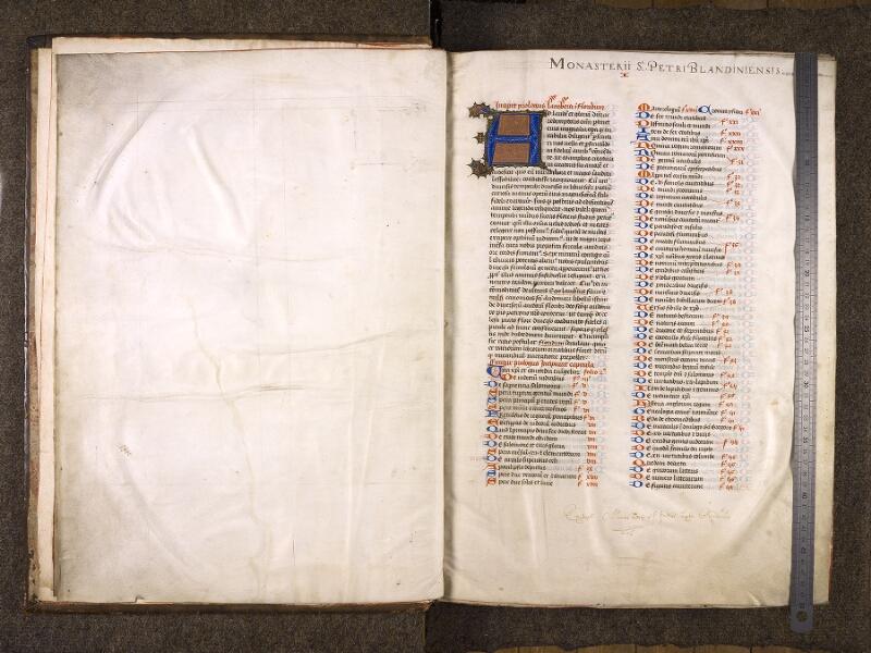 CHANTILLY, Bibliothèque du château, 0724 (1596), f. 000Cv - 001 avec réglet