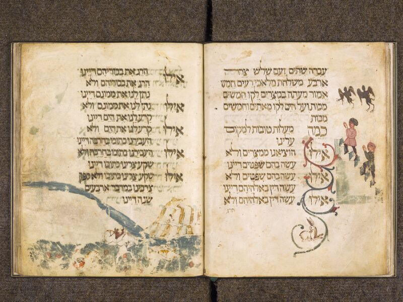 CHANTILLY, Bibliothèque du château, 0732 (1352), f. 018v - 019