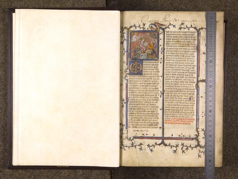 CHANTILLY, Bibliothèque du château, 0735 (1335), f. 002v - 003 avec réglet