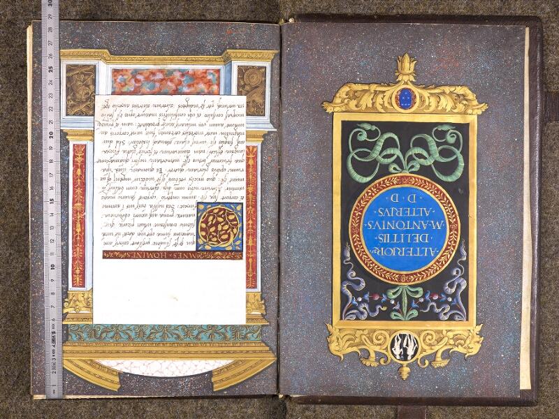 CHANTILLY, Bibliothèque du château, 0762 (1331), contregarde - f. 001 avec réglet