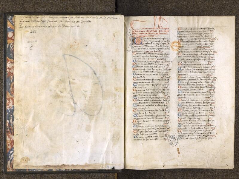 CHANTILLY, Bibliothèque du château, 0769 (0466), contregarde - f. 000A
