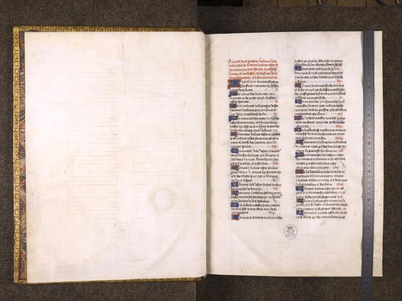 CHANTILLY, Bibliothèque du château, 0770 (1055), f. 000A - 000B avec réglet