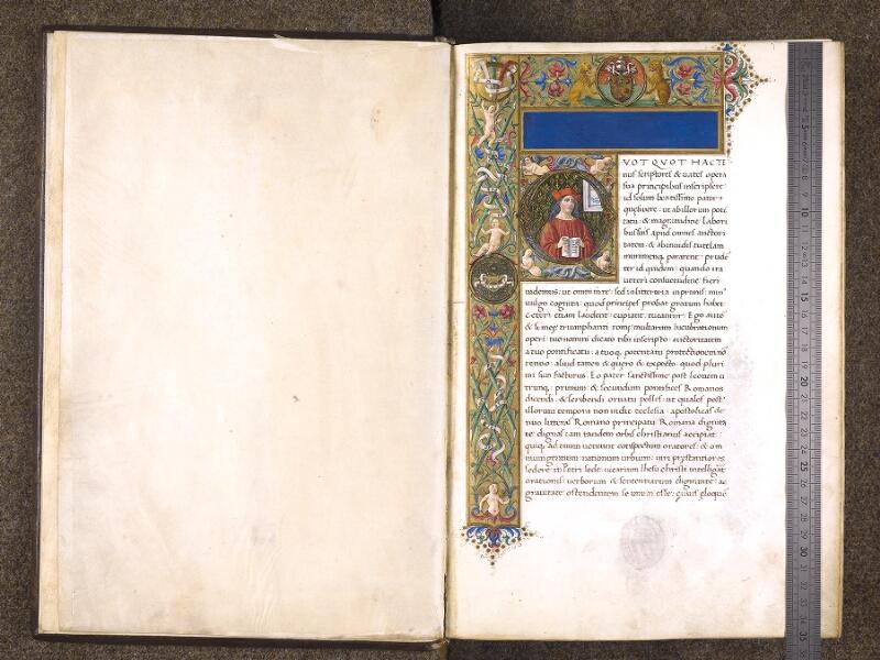 CHANTILLY, Bibliothèque du château, 0772 (1419), f. 000A - 001 avec réglet
