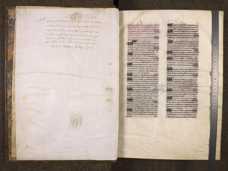 CHANTILLY, Bibliothèque du château, 0776 (1061), f. 000A - 001 avec réglet